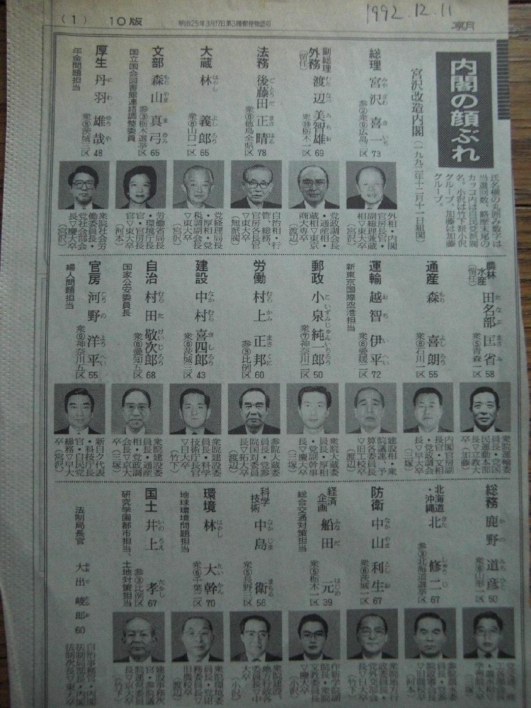 宮沢内閣の不信任決議案が可決された。総選挙の結果、長期にわたる自民党政権... 政治の劣化と選挙