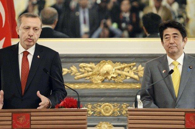 安倍首相とエルドワン首相