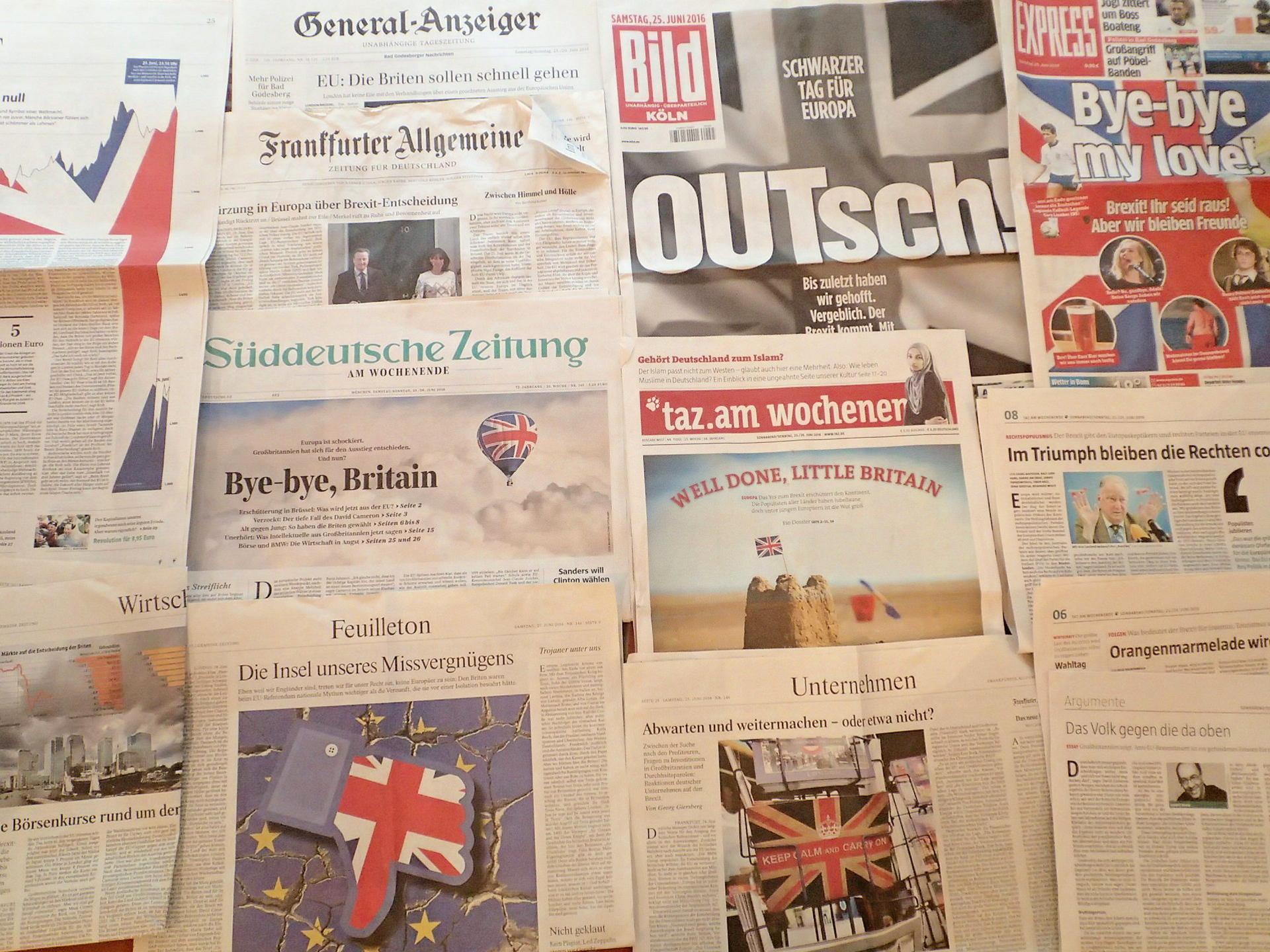 英国EU離脱の各紙記事